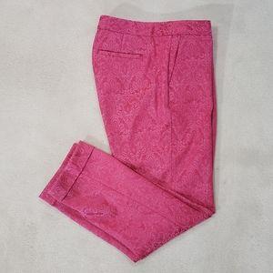 Banana Republic Pink Pattern Ankle Pants Size 2